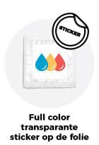 Full color opdruk budget (sticker op folie)