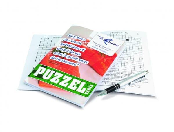 Puzzelboek bedrukken, bedrukte puzzelboekjes, puzzelboekjes met opdruk, puzzelboekjes bedrukken