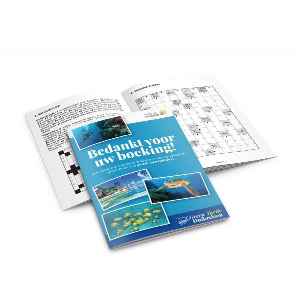 puzzelboekjes bedrukken , bedrukte puzzelboekjes, puzzelboek met eigen omslag