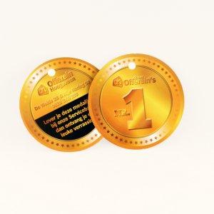 medailles drukken van papier, papieren medailles, kartonnen medailles