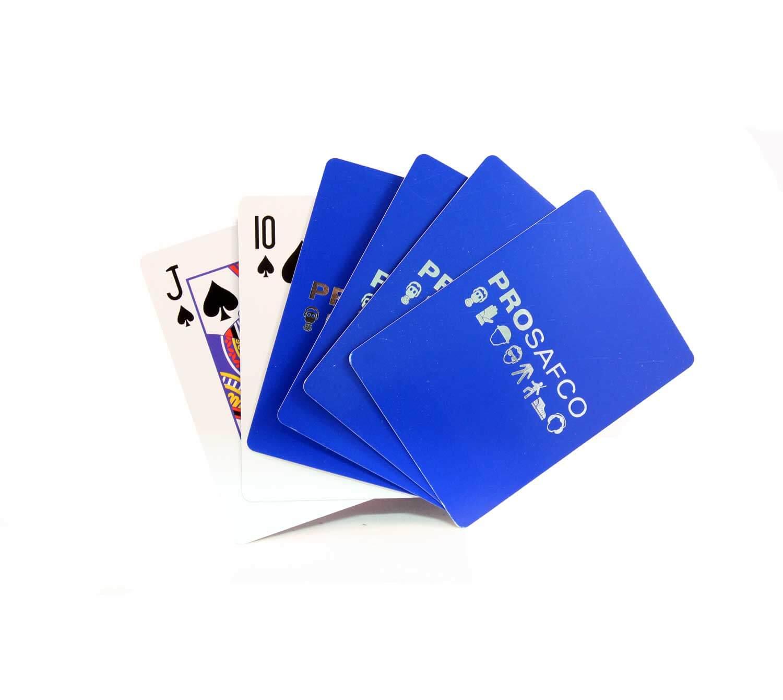 speelkaarten met zilverfolie