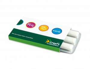 kauwgom bedrukken, kauwgom blister drukken, kauwgom verpakking drukken