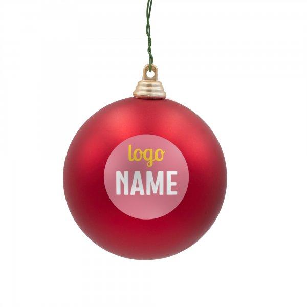 Kerstballen bedrukken, rode kerstballen bedrukken