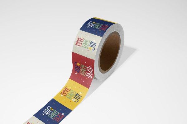Papiertape bedrukken, papiertape drukken, papiertape kleine oplage, tape bedrukken fullcolor, kleine oplage papiertape bedrukken