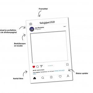 instagram frame drukken, instagram frame met opdruk, bedrukt instagram frame, social medial frame drukken, instagram frame printen