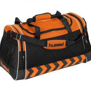 Hummel sporttas met bedrukking, hummel sporttas drukken, bedrukte hummel tas, zwarte hummel tas drukken
